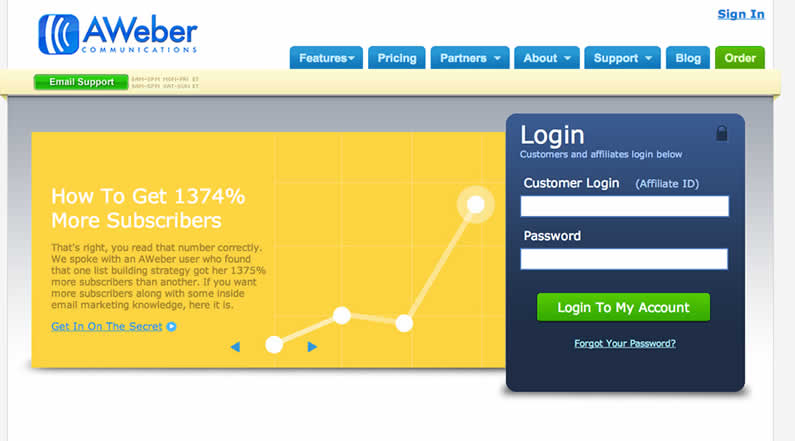 Email Marketing Services Tool Called AWeber