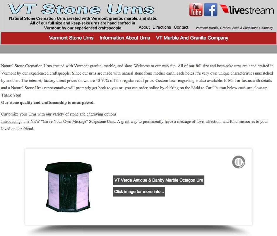 Vermont Stone Urns